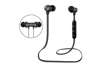 Select Mall Bluetooth Headset 5.0 Magnetic Sport Wireless Bluetooth In-Ear Bluetooth Headphones HiFi Stereo Deep Bass Headsets-Black