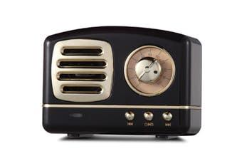 Select Mall Creative Retro Bluetooth Audio Mini Portable High Quality with FM Bluetooth Small Speaker-Black