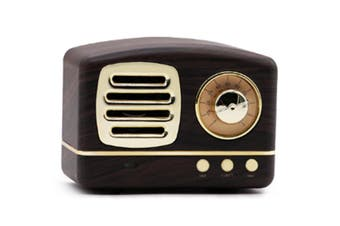 Select Mall Creative Retro Bluetooth Audio Mini Portable High Quality with FM Bluetooth Small Speaker-Brown