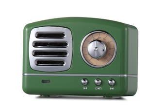 Select Mall Creative Retro Bluetooth Audio Mini Portable High Quality with FM Bluetooth Small Speaker-Green