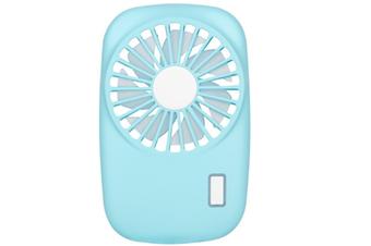 Select Mall Creative Portable Mini Ultra-thin Camera Fan Handheld Portable Silent Rechargeable USB Mini Fan-Blue