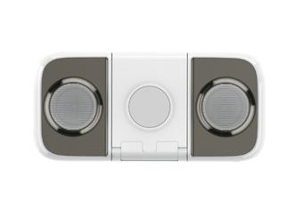 Select Mall Wireless Charging Mobile Phone Holder Mobile Power 10000mah Bluetooth Speaker Multi-function Mini Charging Treasure-Grey