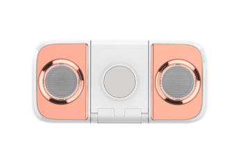 Select Mall Wireless Charging Mobile Phone Holder Mobile Power 10000mah Bluetooth Speaker Multi-function Mini Charging Treasure-Pink