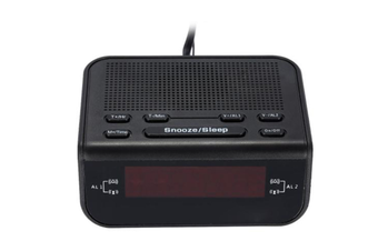 Select Mall LED Clock Radio Creative Alarm Clock Desktop Bedside Clocked Plug-in Radio FM FM Alarm Clock