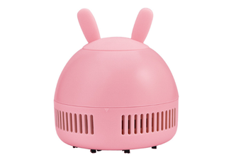 Select Mall Creative Mini Rechargeable Portable Wireless Desktop Vacuum Cleaner To Clean Desktop Keyboard-Pink