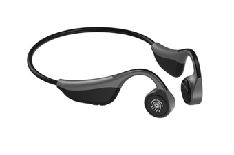 Select Mall Touch-mounted Ear-mounted Sports Bluetooth Headset Stereo Waterproof Wireless Music Running Headset-Grey