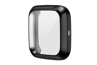 Select Mall TPU Shell Case Screen Protector Frame Cover Bumper for Fitbit Versa 2 Watch TPU Protect Protective Durable Housing-Black