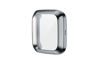 Select Mall TPU Shell Case Screen Protector Frame Cover Bumper for Fitbit Versa 2 Watch TPU Protect Protective Durable Housing-Grey