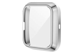Select Mall TPU Shell Case Screen Protector Frame Cover Bumper for Fitbit Versa 2 Watch TPU Protect Protective Durable Housing-Silver