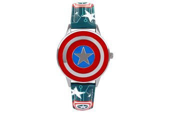 Select Mall Creative Captain America Shield Watch Flip Quartz Watch Boy Child Watch Captain America Vintage Watch-1