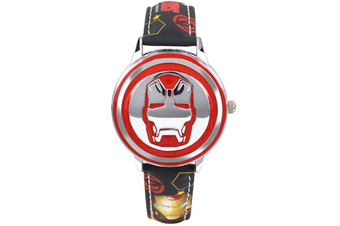 Select Mall Creative Captain America Shield Watch Flip Quartz Watch Boy Child Watch Captain America Vintage Watch-5