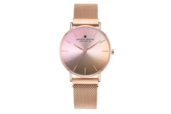 Select Mall Creative Gradient Color Ladies Watch Magnetic Mesh with Fashion Trend Quartz Watch for Women-1