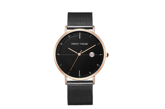 Select Mall Creative Mesh Belt Ladies Waterproof Watch Stainless Steel with Watch Trend Simple Quartz Watch-Gold