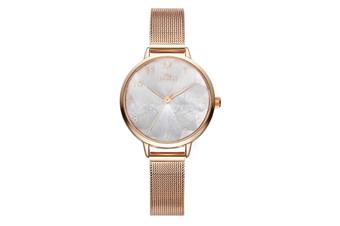 Select Mall Simple Quartz Watch Mitsubishi Mirror Waterproof Watch Fashion Trend Fashion Watch for Women-Gold