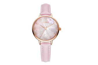 Select Mall Simple Quartz Watch Mitsubishi Mirror Waterproof Watch Fashion Trend Fashion Watch for Women-Pink