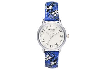 Select Mall Cute Fashion Watch Girl Child Watch Waterproof Boy Watch Mickey Mouse Quartz Watch-Blue