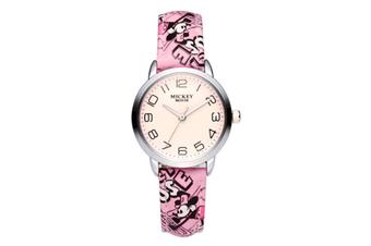 Select Mall Cute Fashion Watch Girl Child Watch Waterproof Boy Watch Mickey Mouse Quartz Watch-Pink