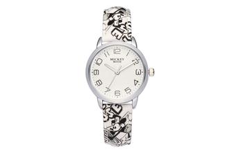 Select Mall Cute Fashion Watch Girl Child Watch Waterproof Boy Watch Mickey Mouse Quartz Watch-White