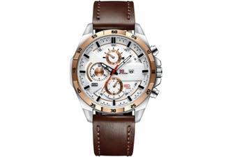 Select Mall Fashion Watches Sports Watch for Men Belt Business Calendar Waterproof Watch Casual Quartz Watch-3