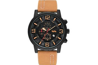 Select Mall Fashion Sports Quartz Watch Large Dial with Calendar Business Casual Watch for Men-2