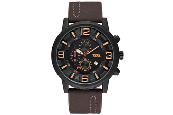 Select Mall Fashion Sports Quartz Watch Large Dial with Calendar Business Casual Watch for Men-3