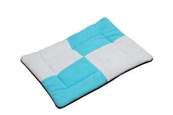 Select Mall Cute Color Matching Dog Mat Bite-resistant Winter Warm Cat Pet Dog Kennel Cotton Pad-Blue - Size S