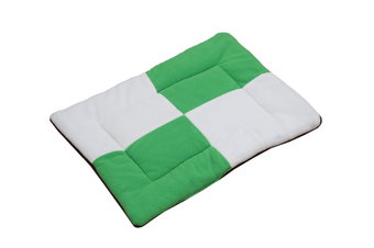Select Mall Cute Color Matching Dog Mat Bite-resistant Winter Warm Cat Pet Dog Kennel Cotton Pad-Green - Size S