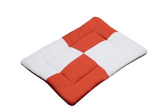 Select Mall Cute Color Matching Dog Mat Bite-resistant Winter Warm Cat Pet Dog Kennel Cotton Pad-Orange - Size L