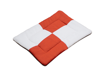 Select Mall Cute Color Matching Dog Mat Bite-resistant Winter Warm Cat Pet Dog Kennel Cotton Pad-Orange - Size M