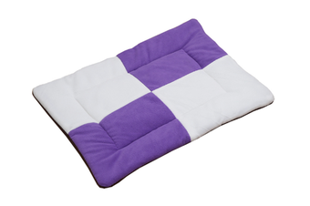 Select Mall Cute Color Matching Dog Mat Bite-resistant Winter Warm Cat Pet Dog Kennel Cotton Pad-Purple - Size L