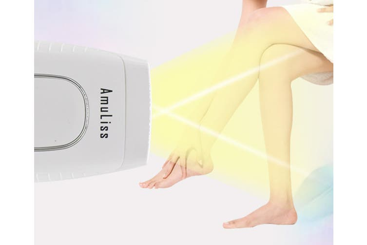 Select Mall Mini Laser Hair Removal Device Home Full Body Photon Armpit Beauty Salon Shaver Mini Epilator-White