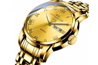 Select Mall Fashion Steel Shell Steel Strip Steel Round Quartz Watch Waterproof Watch for Men and Women Available-5