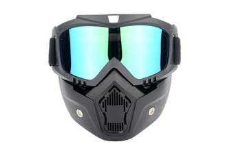 Select Mall Motorcycle Helmet Riding Goggles Glasses Detachable Fog-proof Warm Goggles-Multi