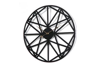 Select Mall 20 inches Personalized Retro Iron Wall Clock Bedroom Living Room Home Mute Clock Polygon Wall Clock
