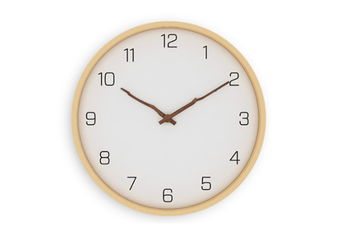 Select Mall Simple Modern Fashion Personality Creative Wooden Solid Wood Wall Clock Living Room Clock-25CM