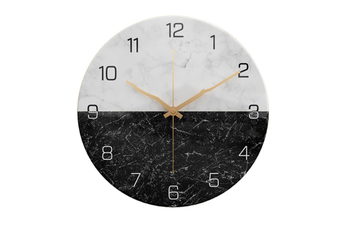 Select Mall 12-Inch Marble Wall Clock Silent Non-Ticking Wall Clock for Home Kitchen Living Room Decor Silent Wall Clock