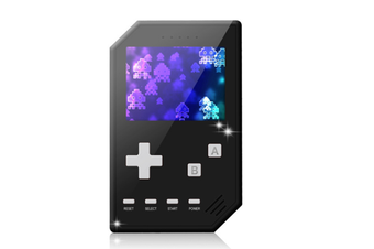 Select Mall Retro Handheld Games Console for Kids Adults 3 inch Screen Video Games with AV Cable Play on TV-Black