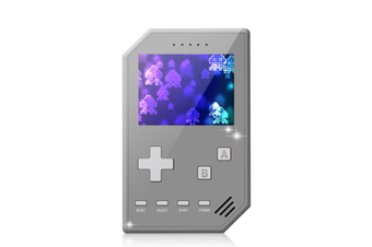 Select Mall Retro Handheld Games Console for Kids Adults 3 inch Screen Video Games with AV Cable Play on TV-Grey
