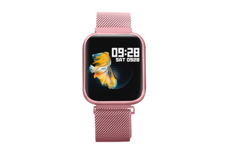 Select Mall 1.3-inch Color Screen Waterproof Smart Watch Full Touch Screen Heart Detection Rate Blood Pressure Sleep Watch-Pink
