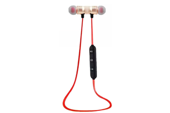 Select Mall Bluetooth 4.2 Headset Wireless Sports Running In-ear True Stereo Magnetic Hanging Neck Earplugs-Gold