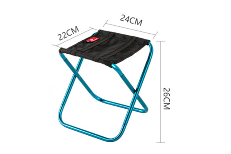 Select Mall Mini Portable Outdoor Folding Chair Train Mazar Stool Rest Chair Camping Fishing Stool-Blue