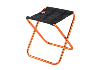 Select Mall Mini Portable Outdoor Folding Chair Train Mazar Stool Rest Chair Camping Fishing Stool-Orange