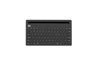 Select Mall Bluetooth Keyboard Multi-Device Universal Bluetooth with Integrated Stand for iPad PC MacBook Android iOS Windows-Black