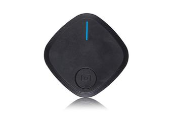 Select Mall Mini Bluetooth 4.0 Key Finder Smart Alarm Anti Lost Tracker Selfie Controller Bluetooth Anti-lost Film Anti-theft Alarm-Black
