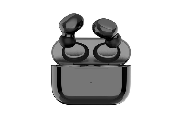 Select Mall Mini Bluetooth 5.0 Headset with Charging Compartment Wireless Dual Call Earbuds Touch-control Button Headset-Black