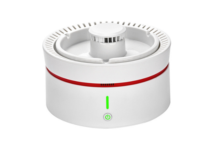 Select Mall Multifunctional Creative Small Ashtray Air Purifier Negative Ion Suitable for Bedroom Office To Remove Second-hand Smoke-White