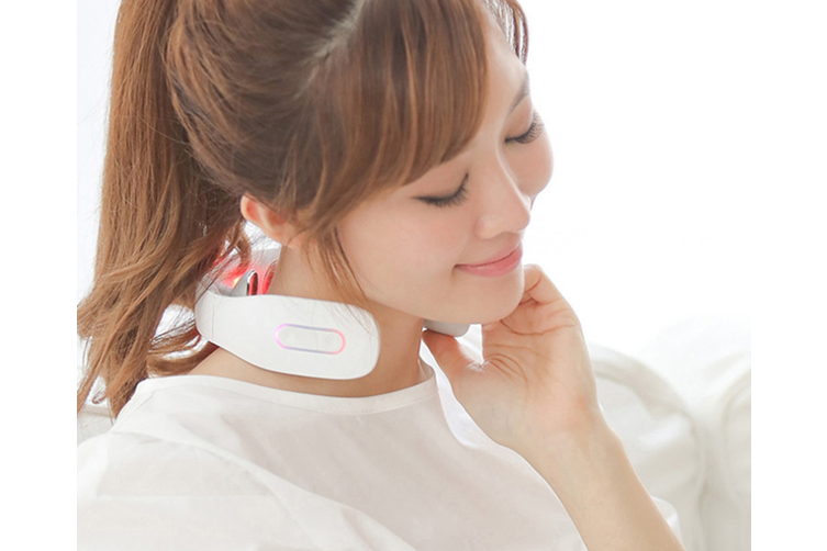 Select Mall Multifunctional Cervical Massage Instrument Intelligent Electromagnetic Shock Cervical Physiotherapy Instrument-White