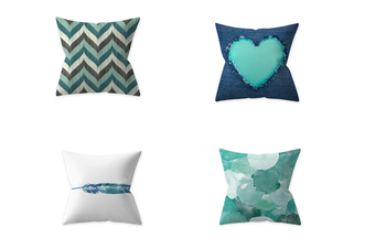 Select Mall 4PCS Pillowcase Teal Blue Home Decoration By Pillow Cushion Cover Without Pillow Core-B