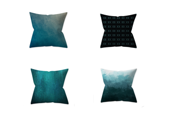 Select Mall 4PCS Pillowcase Teal Blue Home Decoration By Pillow Cushion Cover Without Pillow Core-D
