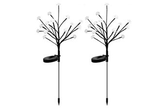 Select Mall 2PCS Solar Garden Light Tree Branch Lamp Garden Ground Plug Lamp Outdoor Waterproof Landscape Lawn Lamp